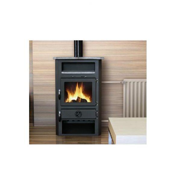 estufa de doble combusti n y alto rendimiento con caldera